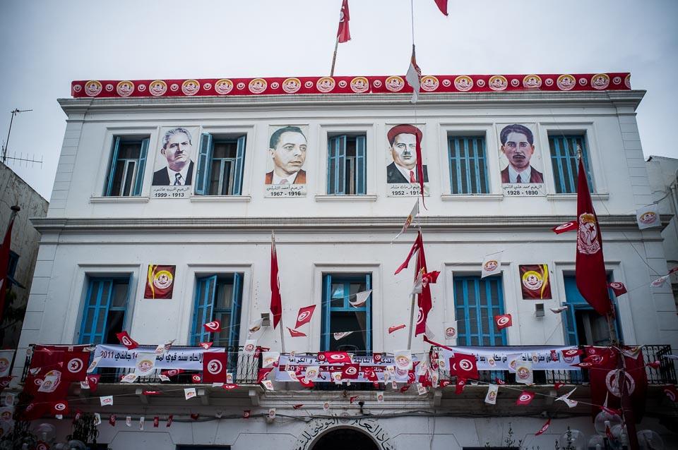 UGTT Zentrale in Tunis